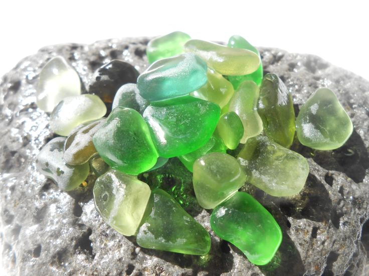 Green hues small sea glass, green sea glass lot, greek beach glass supply by BeniciaSeaglass on Etsy