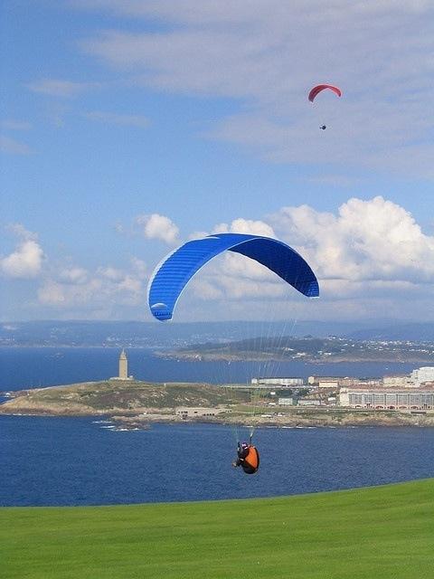 La Coruña y parapente