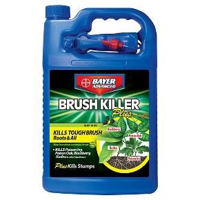 Get rid of tough brush, roots and all with Bayer Advanced 1 Gallon Ready To Use Brush Killer Plus. It kills poison ivy, poison oak, blackberry, kudzu, and other invasive species - roots and all. It comes with easy to use spray applicator.