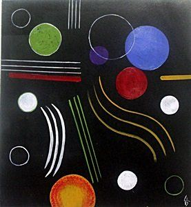 The Circles - Oil Painting on Paper - W. Kandinsky