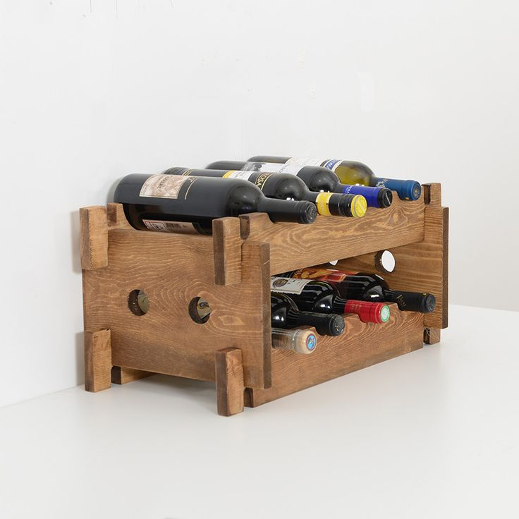 Woodymood French Style Wine Rack Natural 18 best