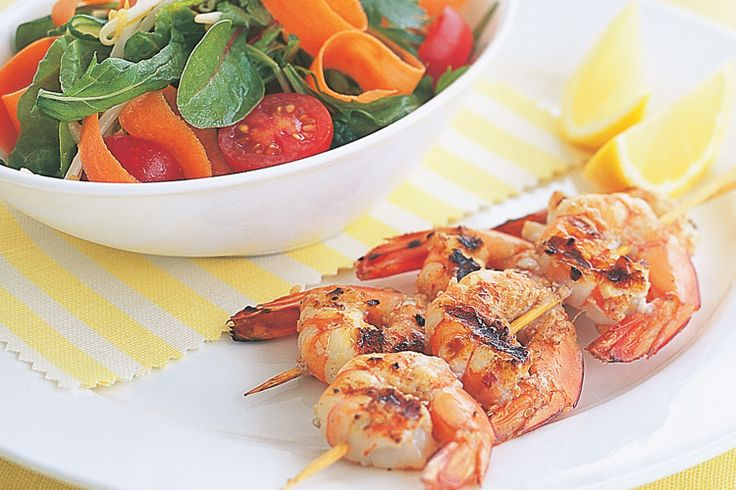 Asian-flavoured prawns with a fresh, crisp salad will make a Sunday barbie something special.