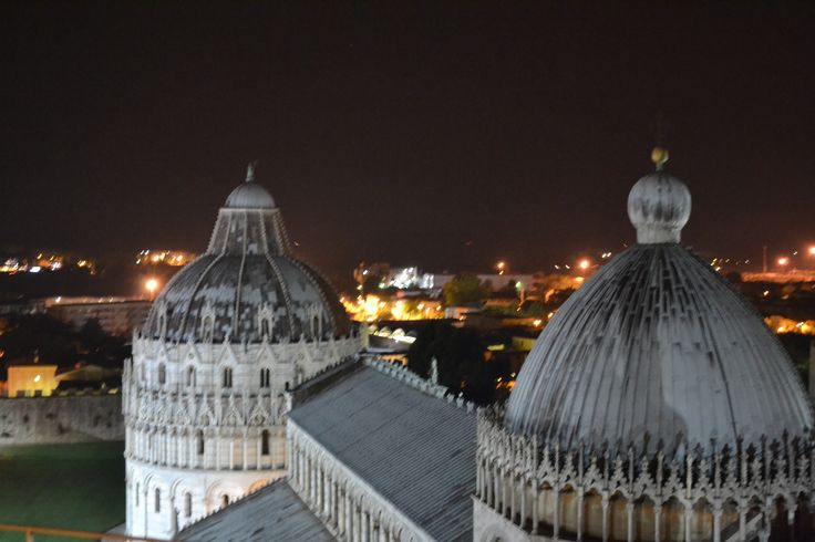 Piazza dei Miracoli from the Leaning Tower of Pisa
