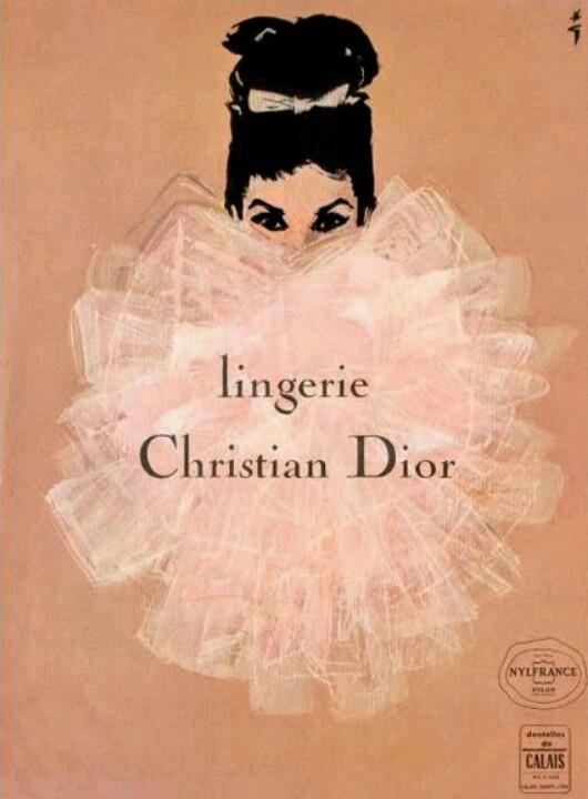Vintage dior perfume add