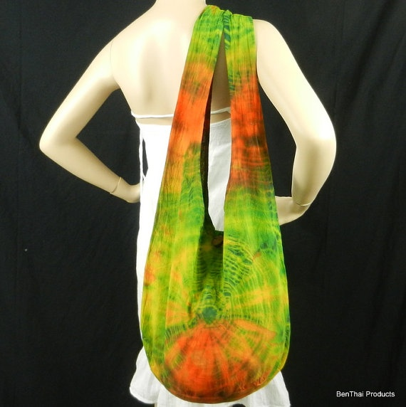 Tie Dye Bag Purse Sling Messenger Crossbody by BenThaiProducts, $16.99