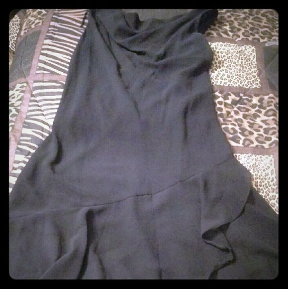 Plus Size Formal Dress Size 16W. Black, sleeveless, lining with ruffled bottom. 3rd pic is the back. Dresses