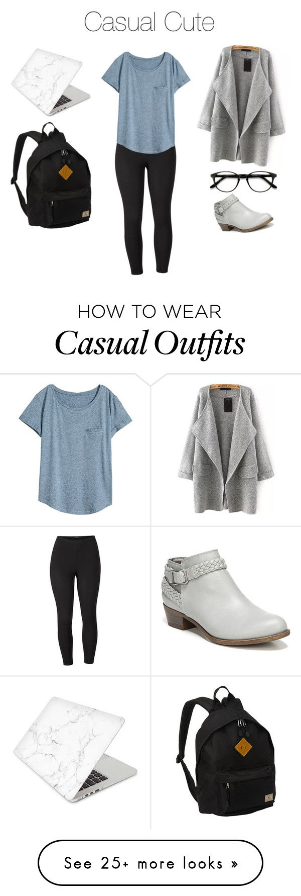 """College Casual - Cute"" by livchilton on Polyvore featuring Venus, H&M, EyeBuyDirect.com, LifeStride, Everest, Recover and plus size clothing"