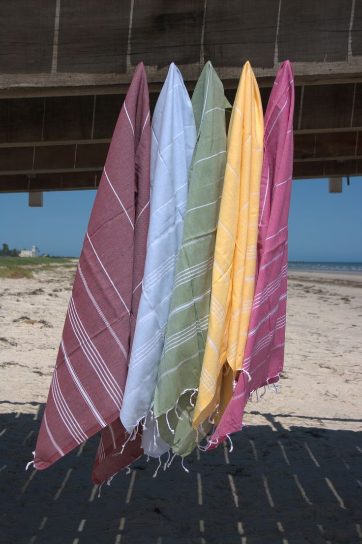 Dela Mar - $35.00 each 100x175cm - 275grm approx. weight Colours available: Claret Red, Light Blue, Olive Green, Yellow & Fuchsia