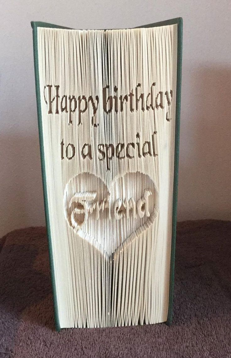 A perfect gift idea for a special friend! Happy birthday to a special friend CUT & Fold Book   Craftsy