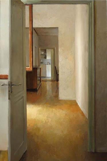 Kenny Harris Camillas Flat, oil on panel, 48 x 32, 2006  via George Billis Gallery