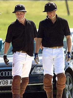Wills and Harry in Polo gear...polo princes...I mean they're kinda cute ;)