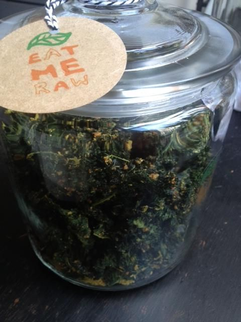 Raw vegan organic kale chips.