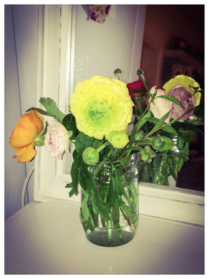 My jam jar flowers