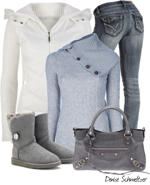 """Blue Sweater"" by denise-schmeltzer ❤ liked on Polyvore"