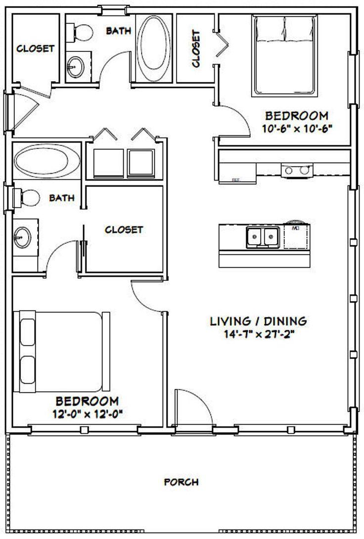 28x34 House 2Bedroom 2Bath 952 sq ft PDF Floor