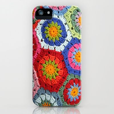 Crochet 1 Multi iPhone & iPod Case - i'd rather have my own crochet on the case but this is cute.