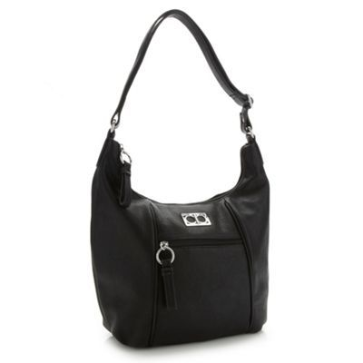 The Collection Black scooped shoulder bag- at Debenhams.com