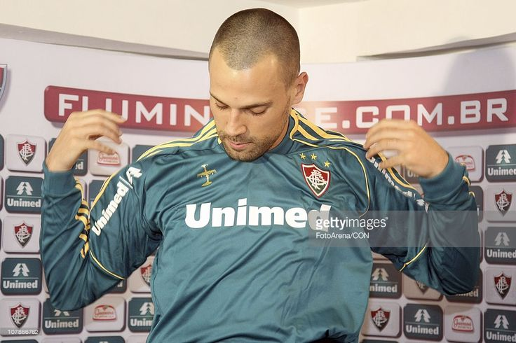 Diego Cavalieri is presented as the new goalkeeper of Fluminense during a press conference at Laranjeiras training center on January 4, 2010 in Rio de Janeiro, Brazil.