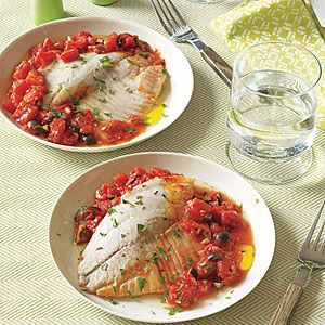 Tilapia with Tomatoes and Olives | MyRecipes.com