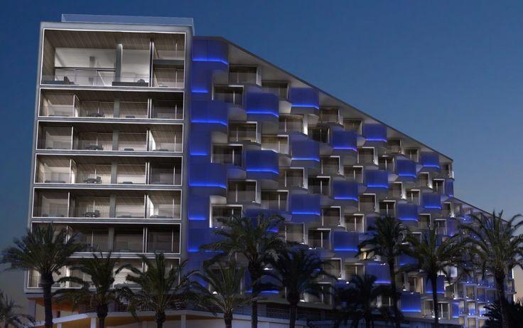 Render Hotel Hard Rock:  Diseño: Estudio B76 / Renders: ABpositivo3D