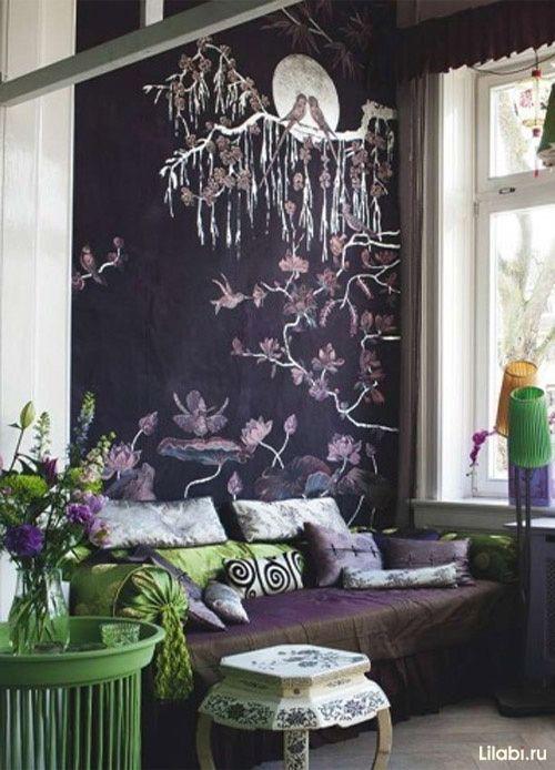 Украшение стен, роспись стен в интерьере