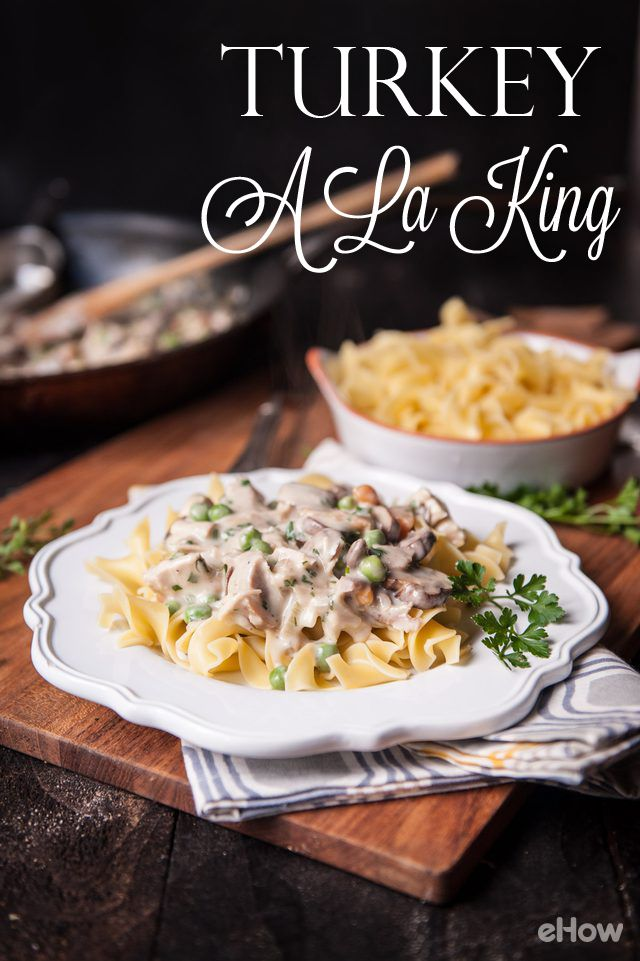 We've officially found the go-to, post-Thanksgiving, best leftover meal ever. Turkey a la king is creamy and simple, perfect meal for a lazy day around the house. It also freezes well, so don't be afraid to make a big batch and save half of it for when you're all out of leftovers and craving some of those delicious Thanksgiving flavors. Recipe here: http://www.ehow.com/how_4619739_turkey-la-king.html?utm_source=pinterest.com&utm_medium=referral&utm_content=freestyle&utm_campaign=fanpage