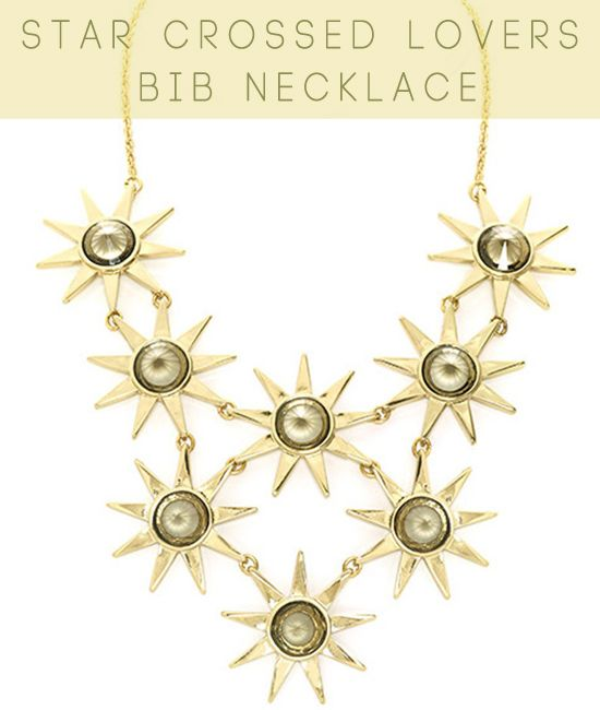 Ever Eden Star Crossed Lovers Bib Necklace -- Win it on MichellePhan.com