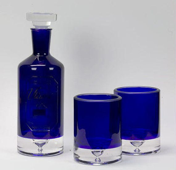 Set of Two 2 Recycled Ultimat Vodka Rocks by BottleshockGlassware, $60.00