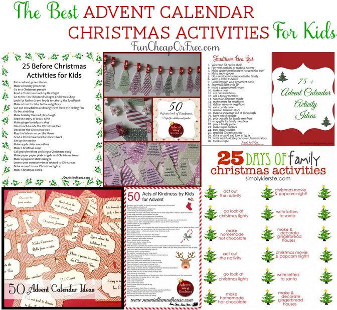 The Best Advent Calendar / Christmas Activities for Kids! (a roundup)