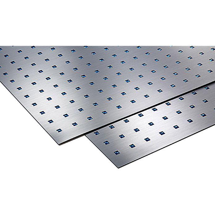 Metalleffektplatte Quadrate Blau Mm D Xmetalleffekt Platte