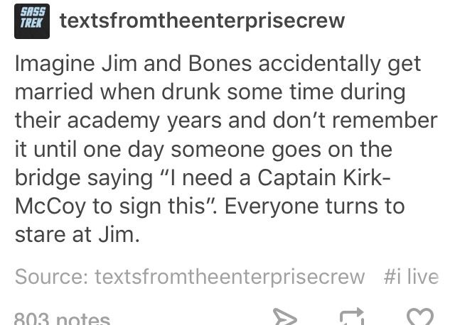 Imagine Bones' reaction