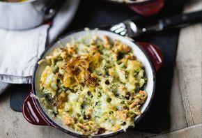 Spinat-Käse-Spätzle mit Zwiebelschmelze