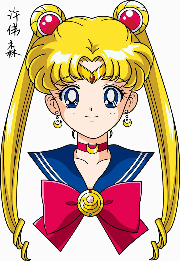 Sailor Moon Face Anime Style Sailor moon usagi, Sailor