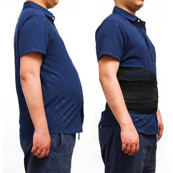 Men's Adjustable Waist Support High Elasticity Breathable Sport Fitness Body Shaper Belly Belt
