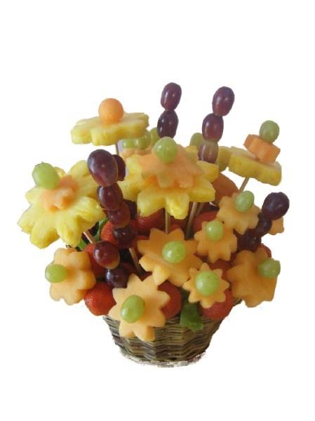 Fruits Cut in Flowers Shape
