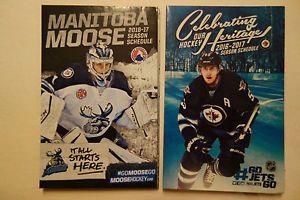 NHL Pocket Schedule 2016 17 Winnipeg Jets 55 Mark Scheiflie Moose   eBay
