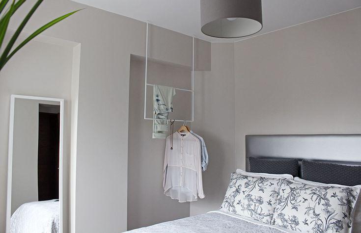Dpto. N.Balboa // Dormitorio blanco+gris 2 //  Sybil Roose (Visybilidad)