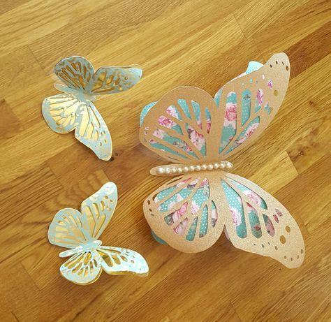 3D Butterflies Nursery Decor, Butterfly Decor, Butterfly Paper Craft