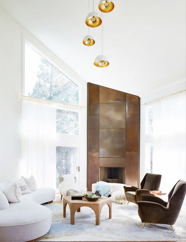 A Metallic Fireplace Might As Well Be The Definition Of Modern Opulence This Major