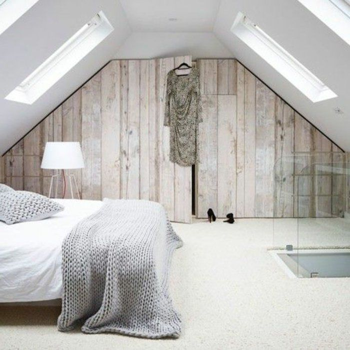 17 best ideas about meuble sous pente on pinterest for Dressing dans chambre 16m2