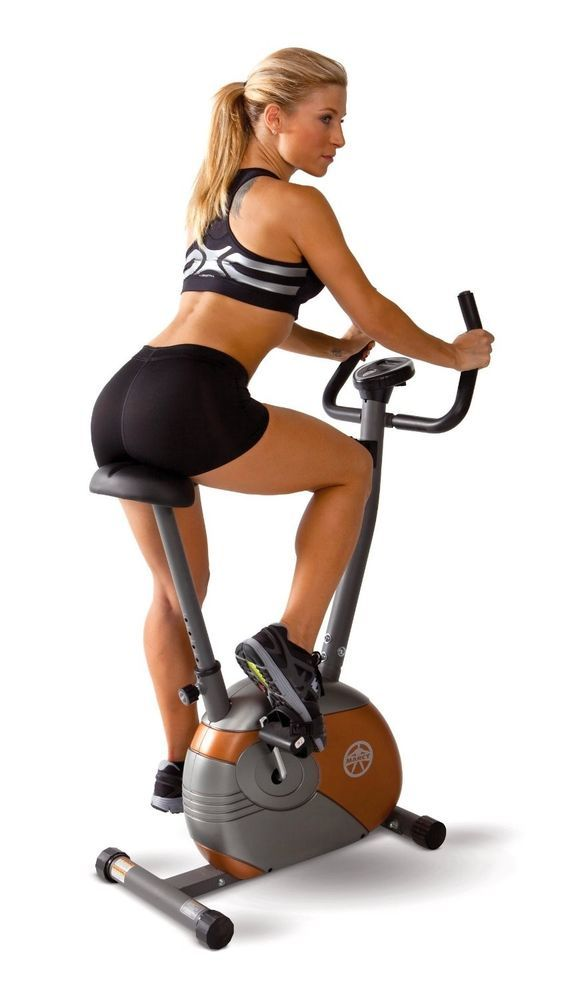 Upright Magnetic Cycle Exercise Stationary Bike Fitness Cardio Home Gym Level #Marcy