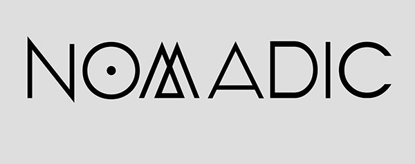 "A self-designed custom typeface titled ""Nomadic"""