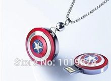 100% de la capacidad verdadera del Usb Flash Drive pen drive Granel lindo unidad flash usb de regalo pendrive avenger Capitán América Shield, S62(China (Mainland))
