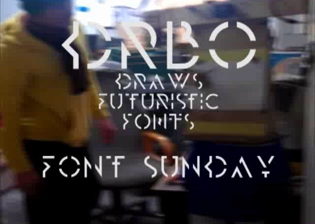 DRBO does futuristic fonts via @fontpicker