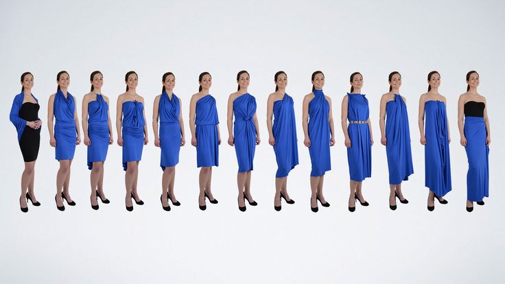 1 QDress = 30+ Styles, Convertible Wrap Dress. Limited only by your imagination! http://qdresses.eu/