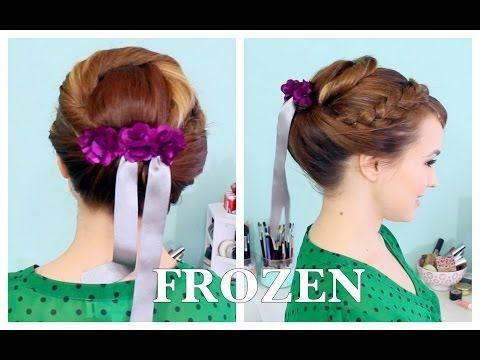 Anna's Coronation Updo from FROZEN - YouTube I'm doing your hair like this, @Emily Schoenfeld Schoenfeld Schoenfeld Jones