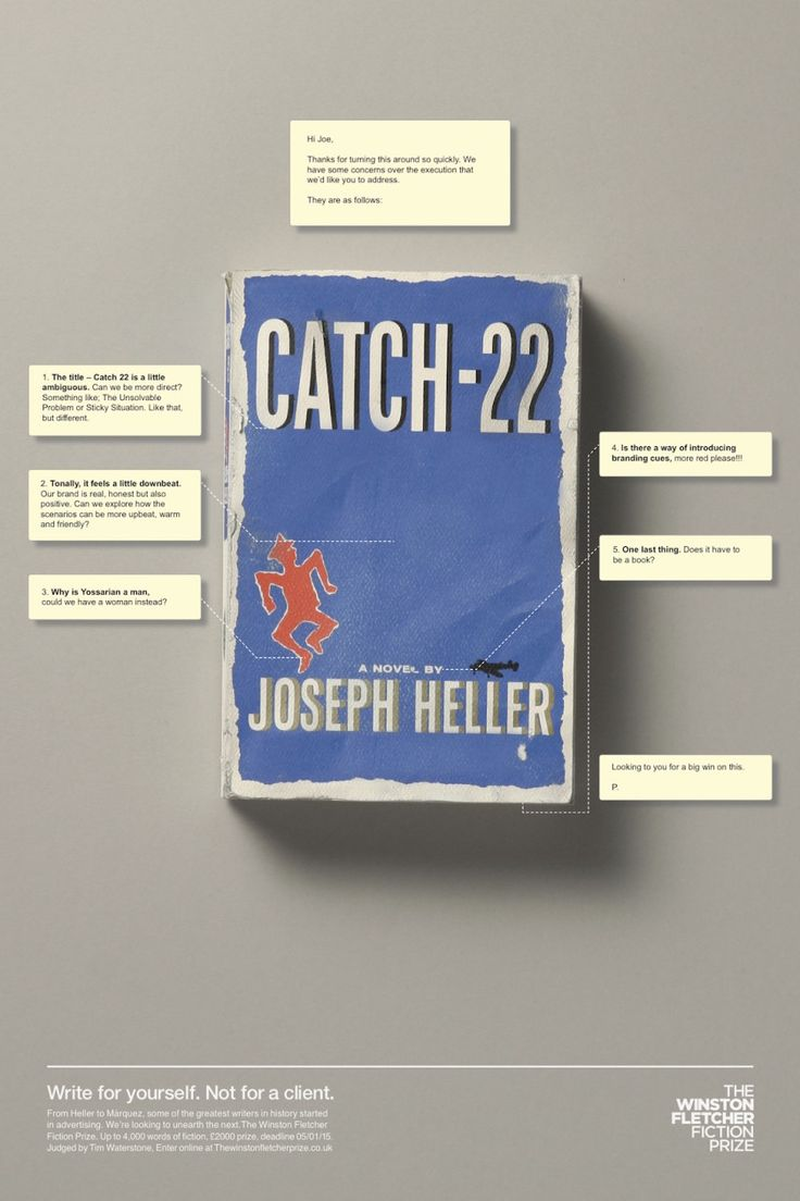 Ad agency's client feedback on famous novels - Catch-22