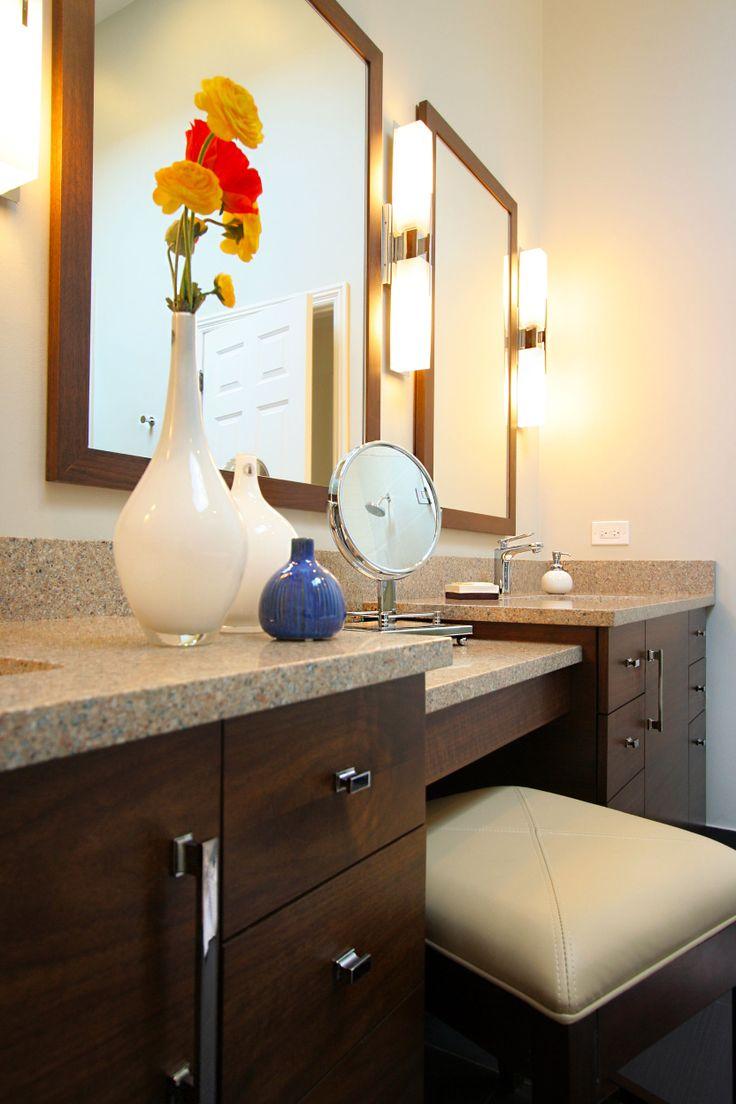 :Lincoln Park master #bathroom custom #vanity. #remodeling #interiordesign