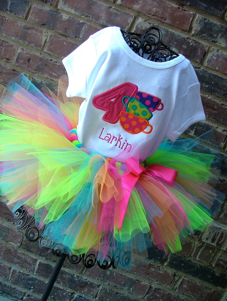 Mad Hatter Tea Party Birthday Tutu Outfit. $49.95, via Etsy.
