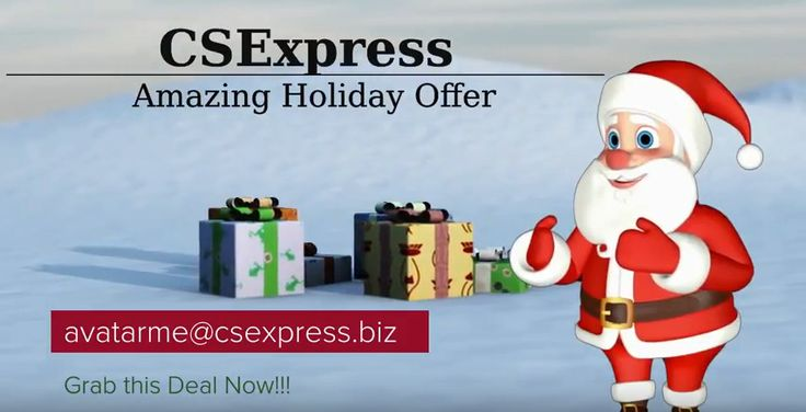 Animated Santa Website Spokesperson for the Holidays! BOOST Your SALES!